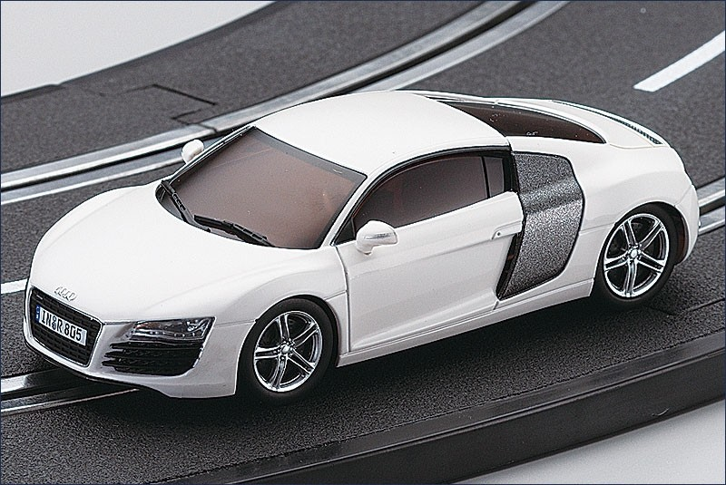 dslot43 audi r8 blanche modelisme. Black Bedroom Furniture Sets. Home Design Ideas