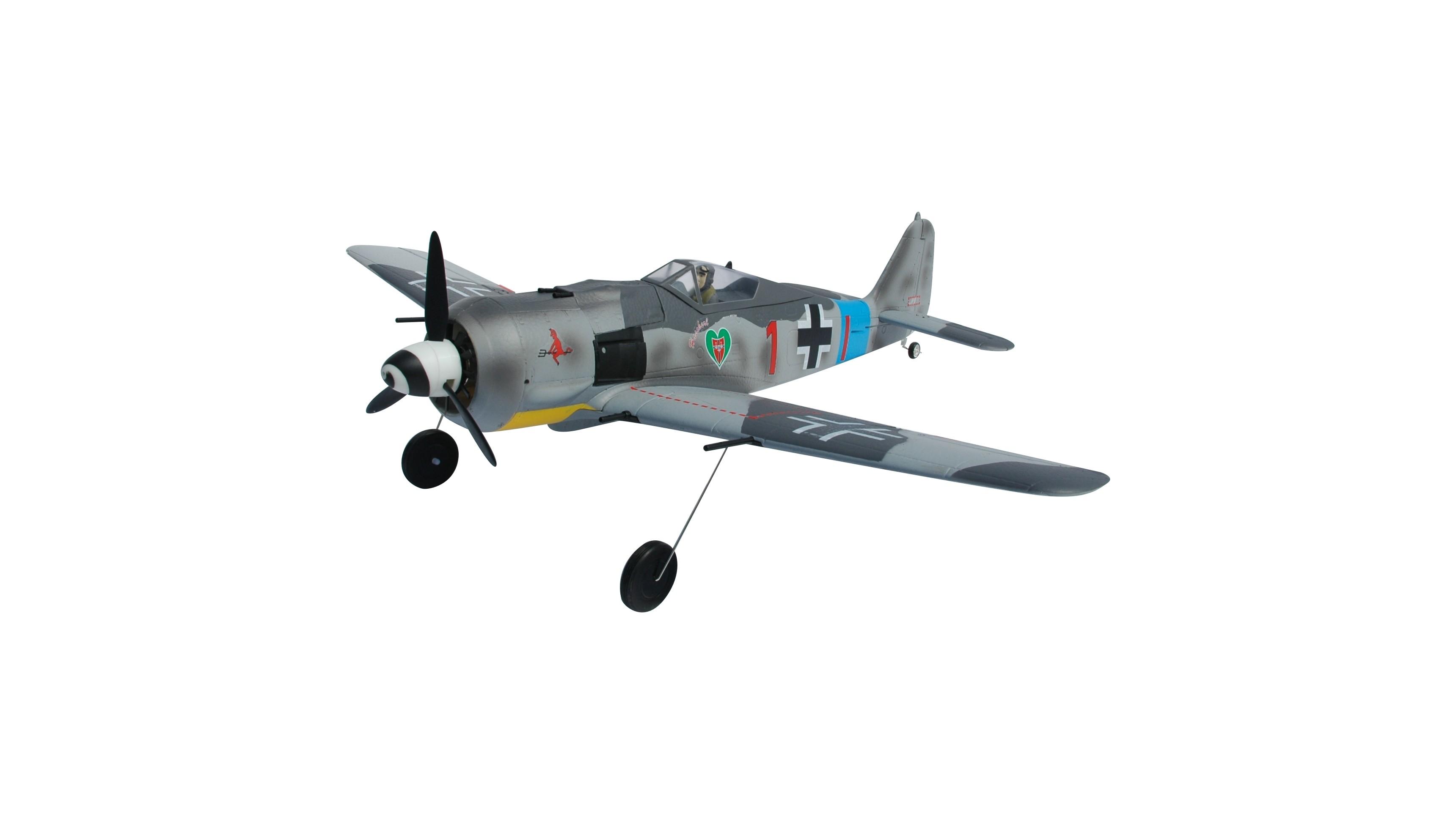 fw190-a8  camo  750mm mini warbird kit - modelisme