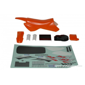 Modelisme moto - Carrosserie Orange + decoratin M5 Cross - 5600259353