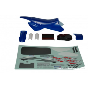 Modelisme moto - Carrosserie bleu et decoration - Moto RC M5 Cross - 5600259356
