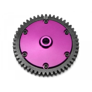 870086807 - couronne metal 49dents + support - HPI - 870086807