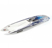 Bateau RC Amewi GENESIS 950mm  Blue White Flame  RTS - AMW-26049