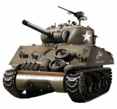 Char US M4A3 Sherman 1/16 RTR 2.4Ghz Sons/Fumee/billes