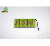 Pack Tx S 9.6V/AP-2500 JR type servo