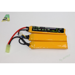 Gun Powder 2200 11,1V - 3 sticks Accu Airsoft Lipo A2PRO