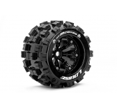 Louise RC - MT-MCROSS - Pneus 1-8e Monster Truck - Medium - Jantes 3.8  Noirs - 1/2 -Offset - EP E-REVO Av/Arr - EP SUMMIT Av/Arr - GP T-MAXX 3.3 Av/A