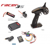 Pack T2M Radio Racer 3S + Chargeur Pocket + Servo T224 + Accu 2S 3500maH + Combo Brushless