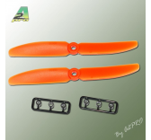 Helice Gemfan Slow Fly propulsive orange 5 x 3 (2 pcs) A2PRO
