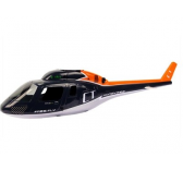Fuselage gris et orange - Modelisme helicoptere Honey bee CT - 002825