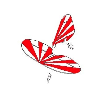 Empennage Rouge - Minium Clipped Wing - A0752-13CR