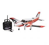 Modelisme avion - Airium Piper PA34 VE29 Twin Ready Set Rouge - Kyosho - 10961RS-R