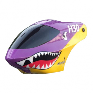 Modelisme helicoptere - Bulle violet/jaune Monorotor H30 - Scorpio - NE402228002A