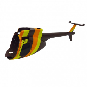 Modelisme helicoptere - Fuselage 3 couleurs Hugues 500 - MHD - Z700556