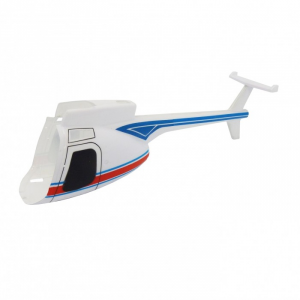 Modelisme helicoptere - Fuselage blanc Hugues 500 - MHD - Z700554