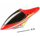 Modelisme helicoptere - Bulle rouge et blanche - Helicoptere radiocommande Easycopter XS RC System - RC3407-20R