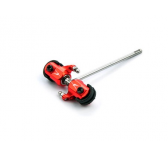 Alu. Tail Blade Grip w/ Tail Shaft (Red) Blade 130X
