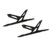 Spare Carbon Panel for Xtreme CF Skid (Black - 2 pcs) Blade 130X