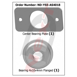 ND-YS5-AS4018 Plaque de roulement central Stingray 500 - Curtis Youngblood - ND-YS5-AS4018