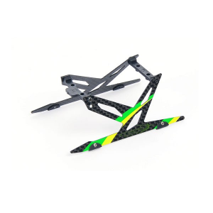 Carbon Landing Skid Set (Green) - Blade 130X