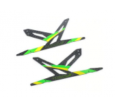 Spare Carbon Panel for Xtreme CF Skid (Green - 2 pcs) Blade 130X