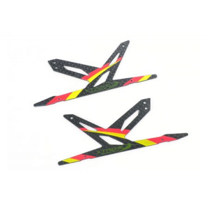 Spare Carbon Panel for Xtreme CF Skid (Red - 2 pcs) Blade 130X