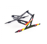 Carbon Landing Skid Set (Red) - Blade 130X