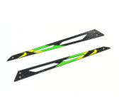 Carbon Tail Boom Support (Green - 2 pcs) - Blade 130X