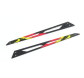 Carbon Tail Boom Support (Red - 2 pcs) - Blade 130X