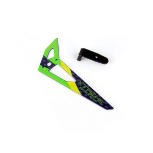 Carbon Tail Fin (Green) - Blade 130X