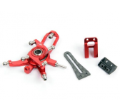 Alu. Swash Plate V2 w- Back AR Guide (Red) Blade 130X