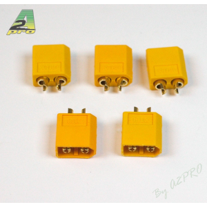 Connecteur XT-60 OR Male (5 pcs) A2PRO
