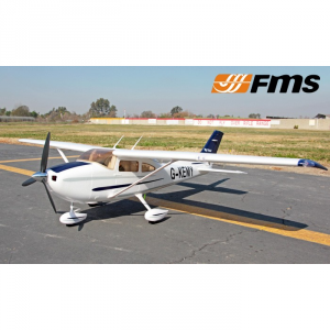 Avion RC Big Cessna XL182 1410mm V2 ARF PNP Bleu