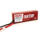 Reaction 7.4V 5000mAh 2S 50C LiPo, Hardcase:EC3