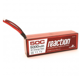 Reaction 11.1V 5000mAh 3S 50C LiPo, Hardcase:Deans
