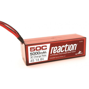 Reaction 14.8V 5000mAh 4S 50C LiPo, Hardcase: EC5