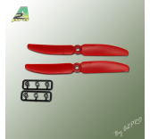 Helices 5x3 anti-horaire x2 FPV Racer - Gemfan - A2P-GR5050030