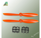 Helice Gemfan Slow Fly orange – 6 x 4.5 CW (2 pcs)