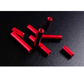 Tubes aluminium rouge 37mm - 2000102