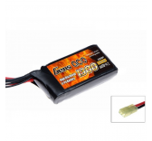 Gens Ace 1300mAh 7.4V 20C 2S1P Airsoft Lipo Battery - B-20C-1300-2S1P-Asoft