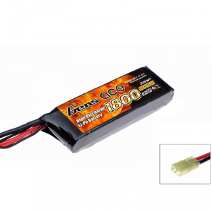 Gens Ace 1800mAh 7.4V 20C 2S1P Airsoft Lipo Battery Pack - B-20C-1800-2S1P-Asoft