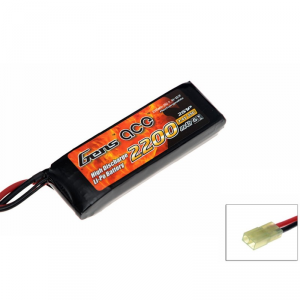 Gens Ace 2200mAh 7.4V 25C 2S1P Airsoft Lipo Battery Pack - B-25C-2200-2S1P-Asoft